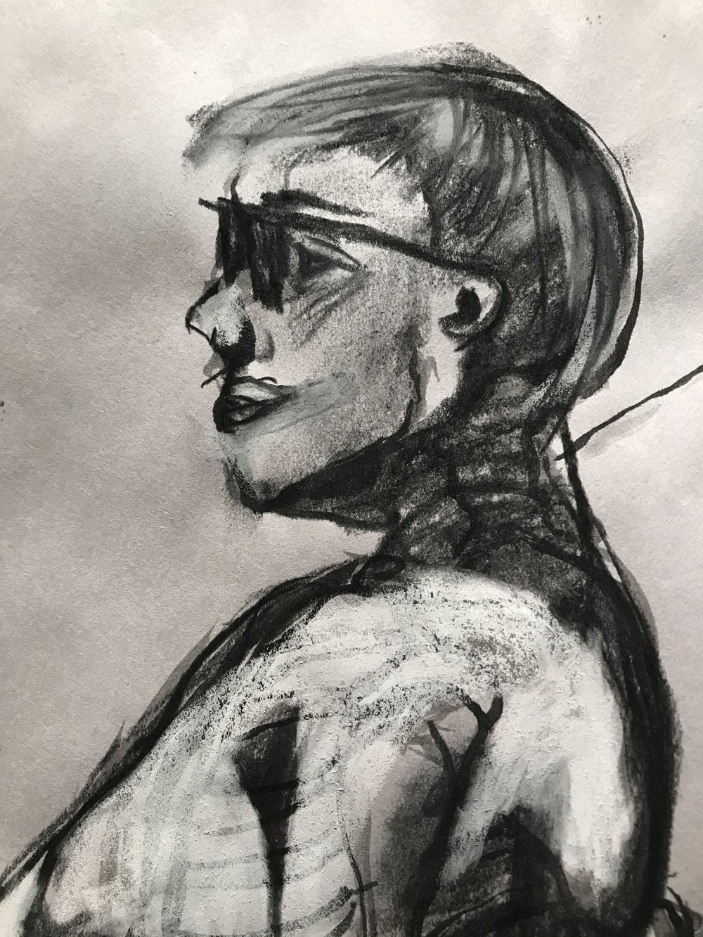 Life Drawing + Skeleton Study