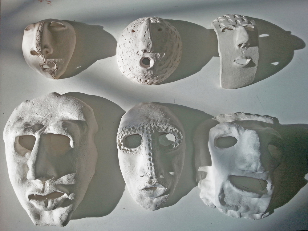 Ceramic masks in progress