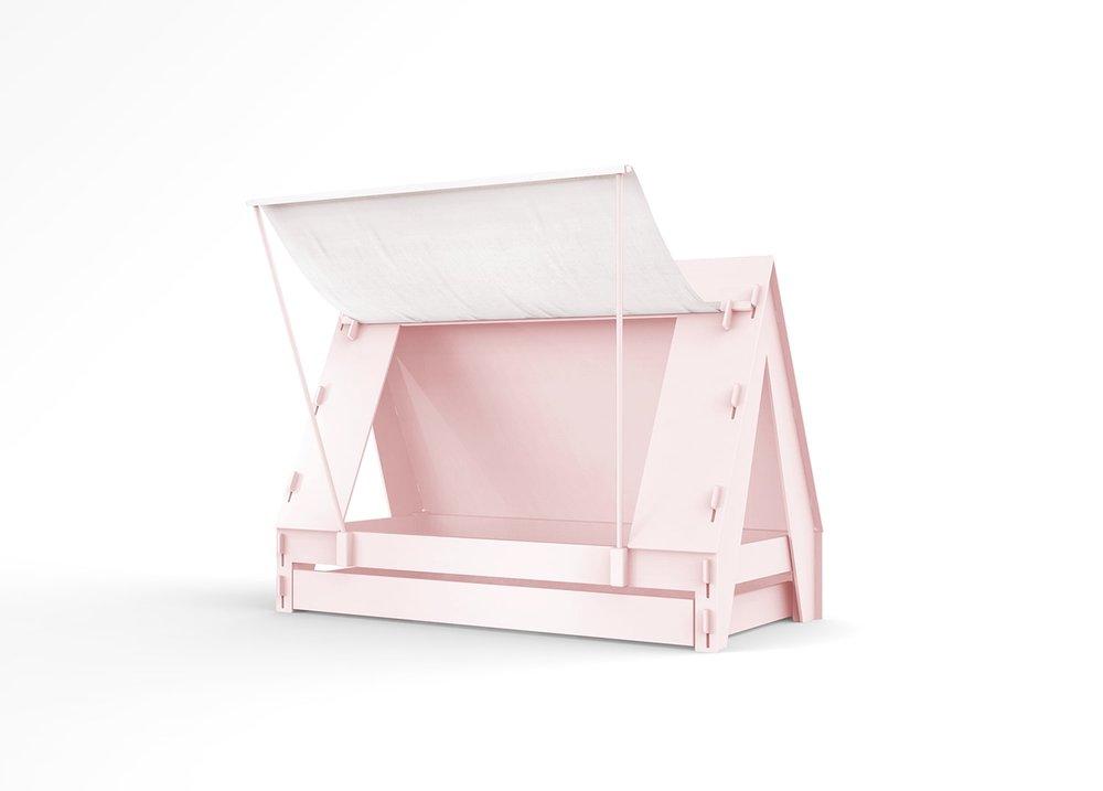 lit tente rose pour enfant - Mathy by Bols