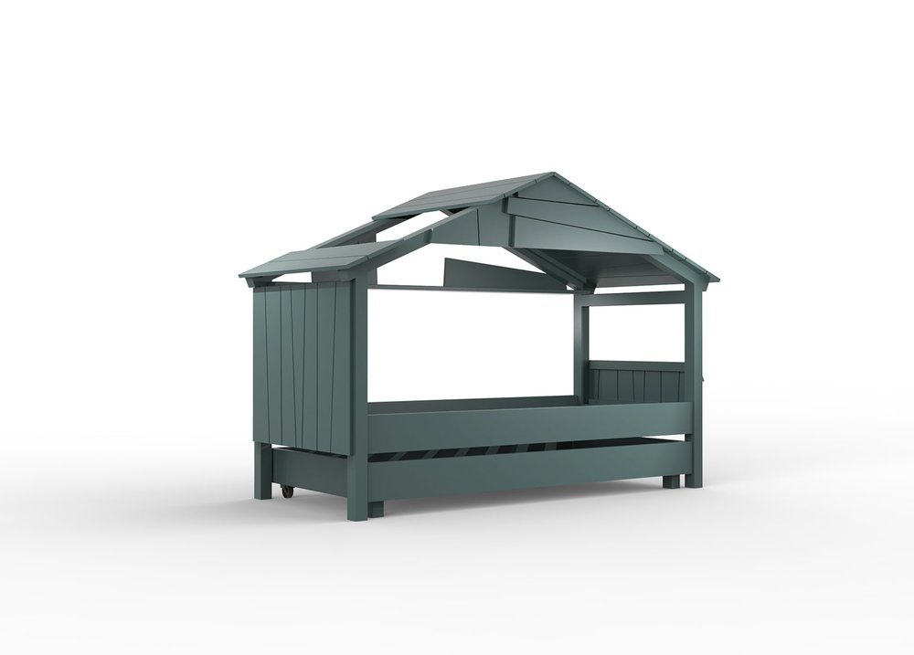 "Lit cabane vert pour enfant - ""Star Treehouse"" Mathy by Bols"