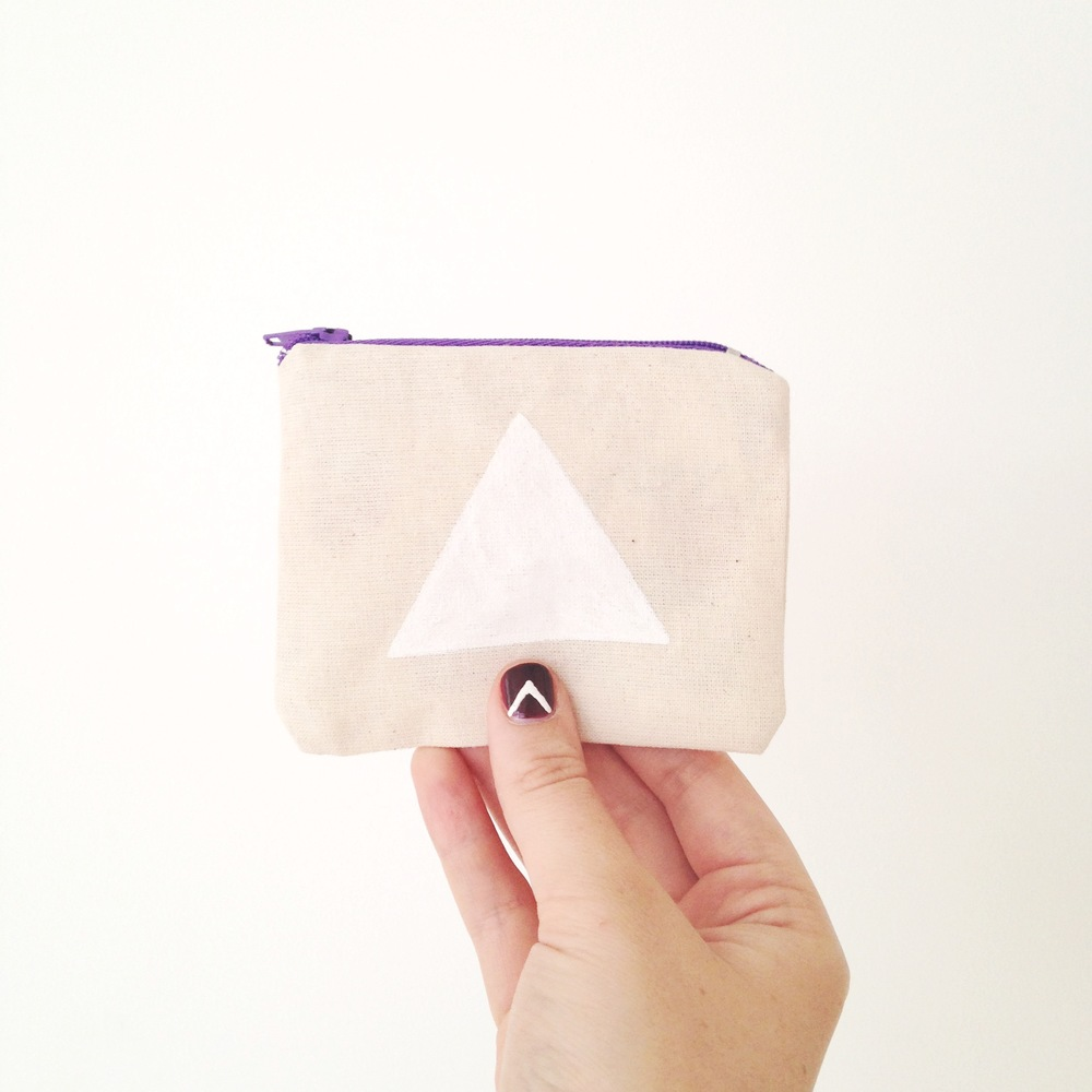 3//. this little purse for being the first zip I've ever sewn - guided by Harriet :) Watch this space for little hand illustrated purses coming to the shop soon!