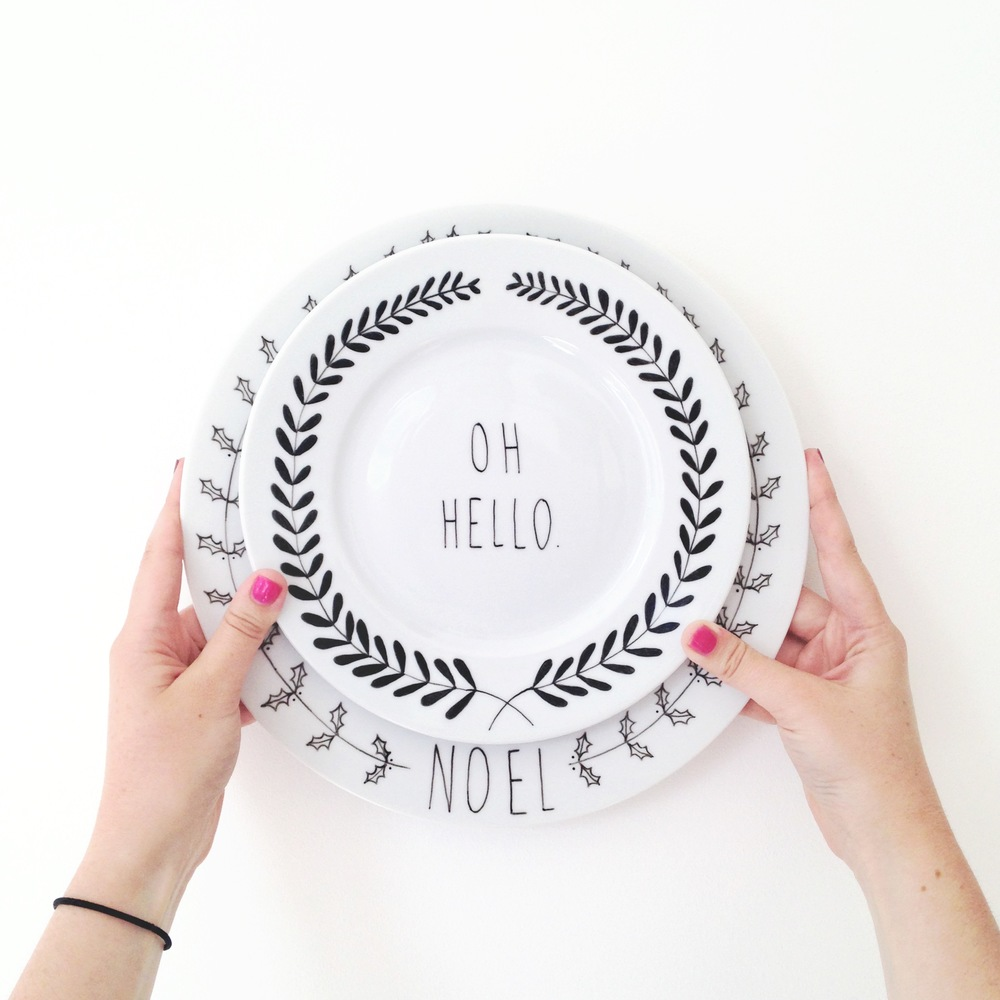 2//. these plates {and what feels like a million more} I illustrated up this week for  a top secret feature {eep!} for getting me excited about things to come...