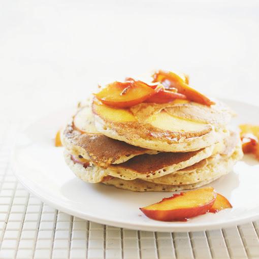 Spiced Peach Pancakes