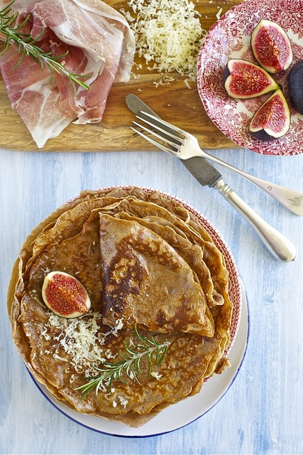 Fig, Proscuitto & Cheese Crêpes with Rosemary
