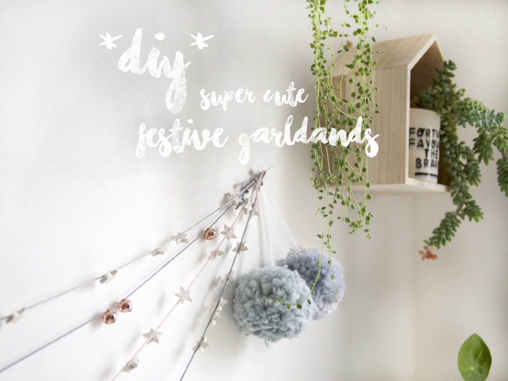 Super cute festive garlands by OH NO Rachio!