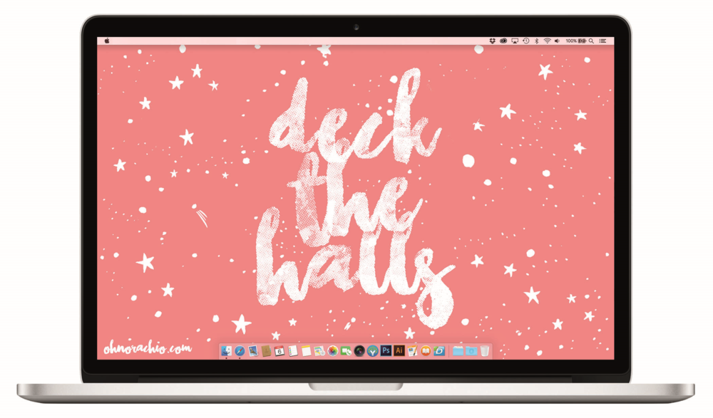 'DECK THE HALLS' desktop download from OH NO Rachio!