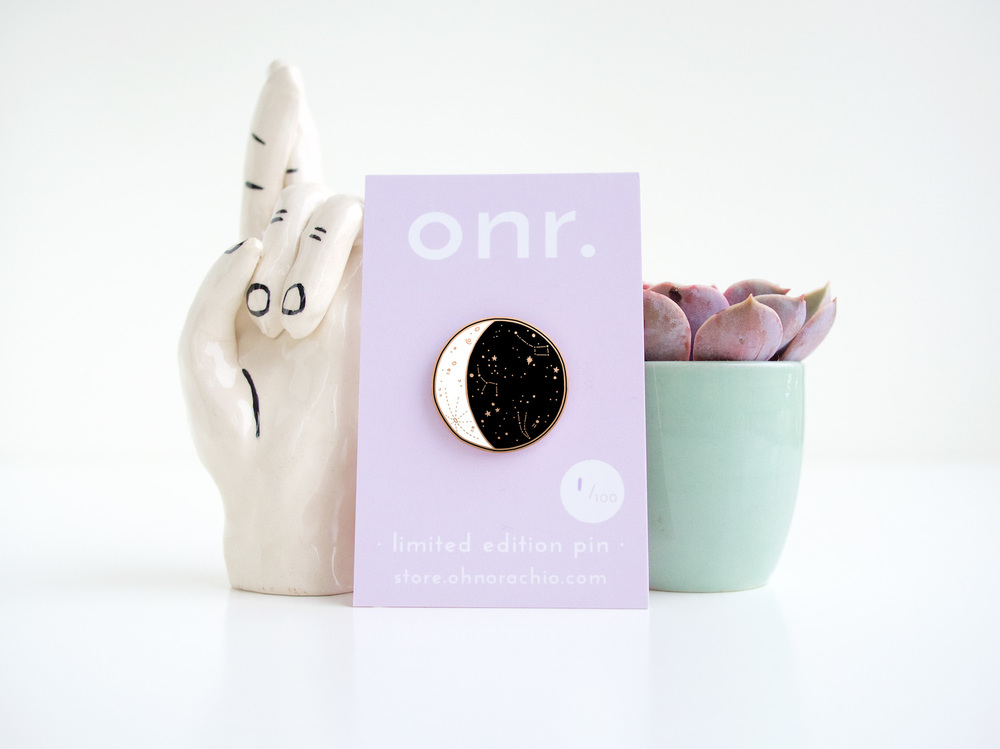 onr. shop // moon phase enamel pin