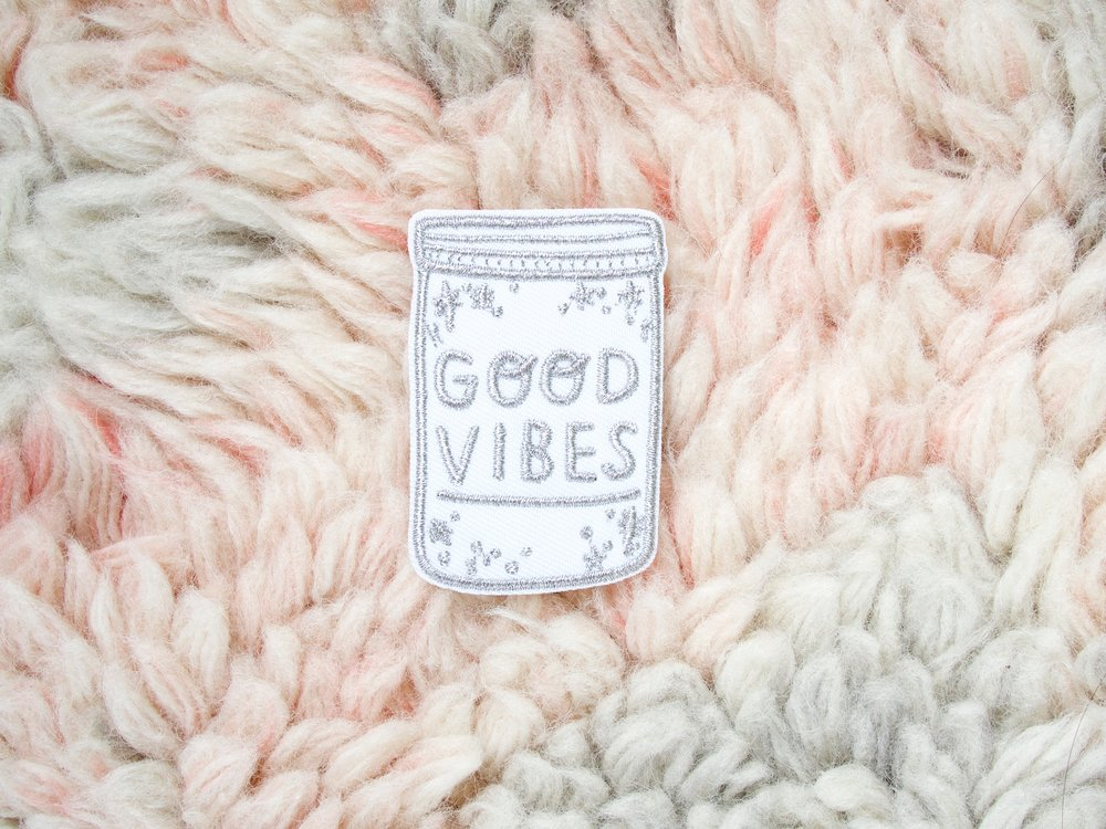 onr. shop Good Vibes metallic embroidered patch