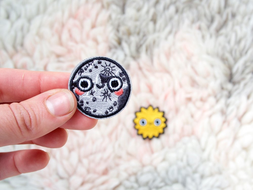 onr. shop mini moon & sun embroidered patches