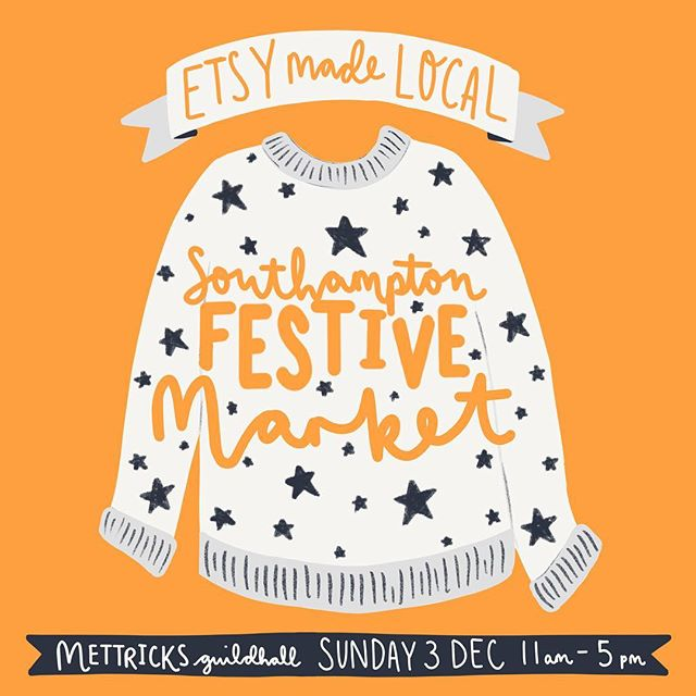 As team captain for the ruddy awesome lot at @sotonetsy its my absolute pleasure to let you all know about our very first Southampton #etsymadelocal festive market! We've got drop in workshops, live painting, goodie bags for the first 25 guests, awesome offerings from local creatives AND all the edible delights our hosts @mettricks Guildhall have to offer! Join us on December 3rd to support small businesses this Christmas & kickstart your gifting! Please share the details or tag anyone you think might like to join us too! xx @etsyuk #etsy #southampton #discoversouthampton #supportlocal #shopsmall #hampshirelife
