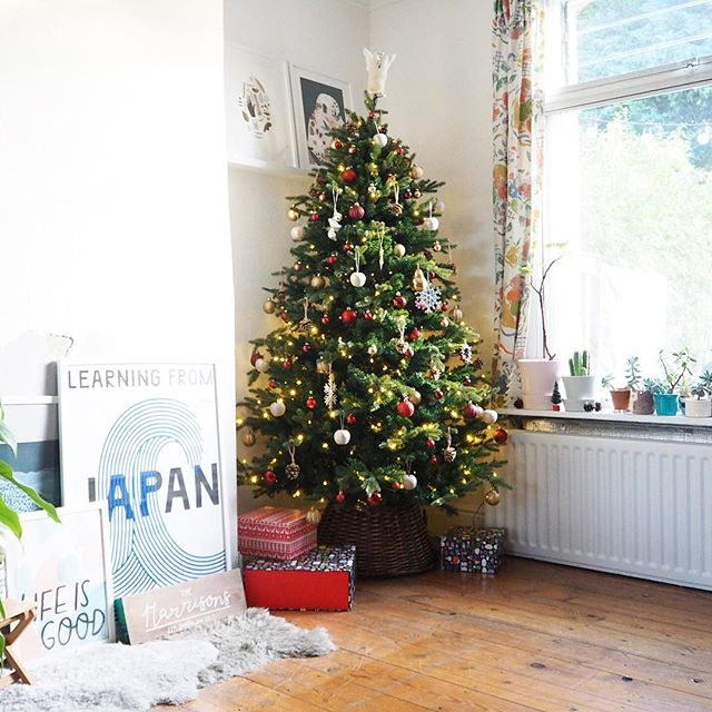 Our house is still in total chaos with no kitchen {& everything contained within the kitchen piled in the lounge} BUT today I decorated our beautiful new tree & put the dining room back together & now I feel marginally less exasperated at the current sitch! Who else has their tree up?