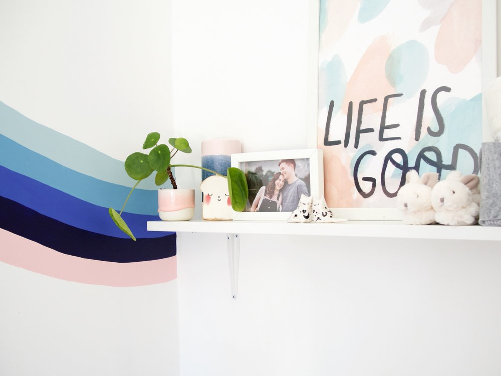 {onr.} Baby Room Reveal: Cute shelf details