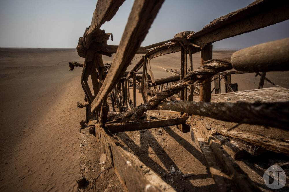 ABANDONED OIL DERRICK - toscanini, NAMIBIA
