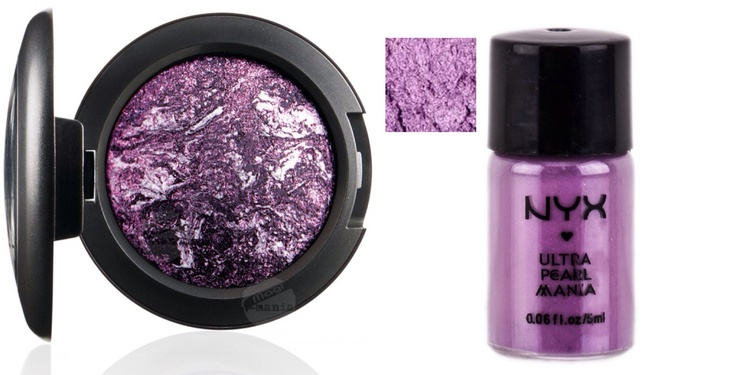 Young Punk eyeshadow (left) and Light Purple loose eyeshadow (right)