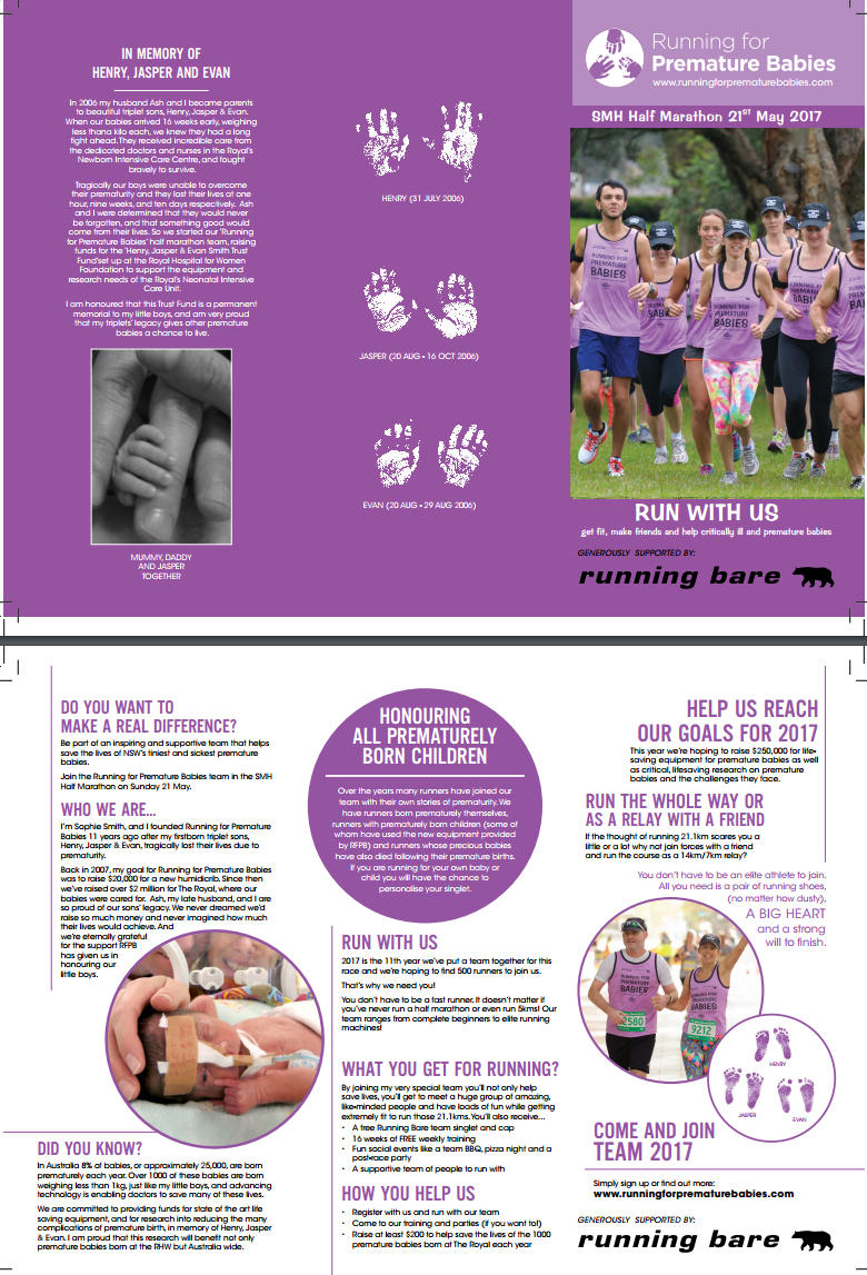 posters and flyers running for premature babies flyer click here or on the image below to as pdf