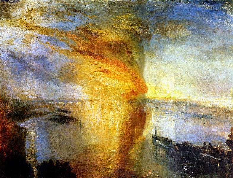 Turner - The Burning of the Houses of Parliament