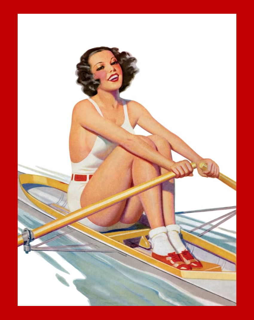 Vintage rowing poster