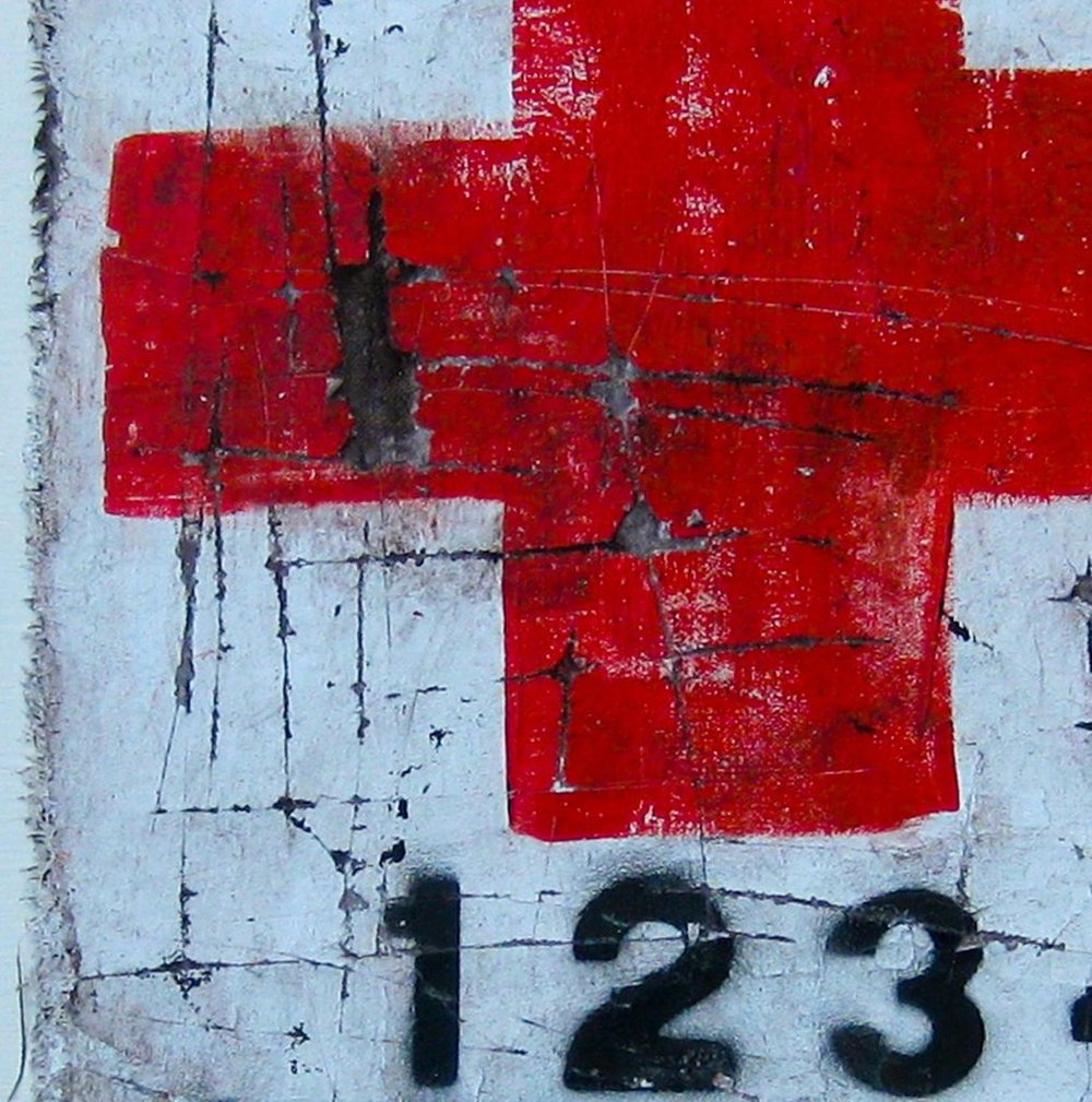 Red Cross (detail) painting by Asphyxia