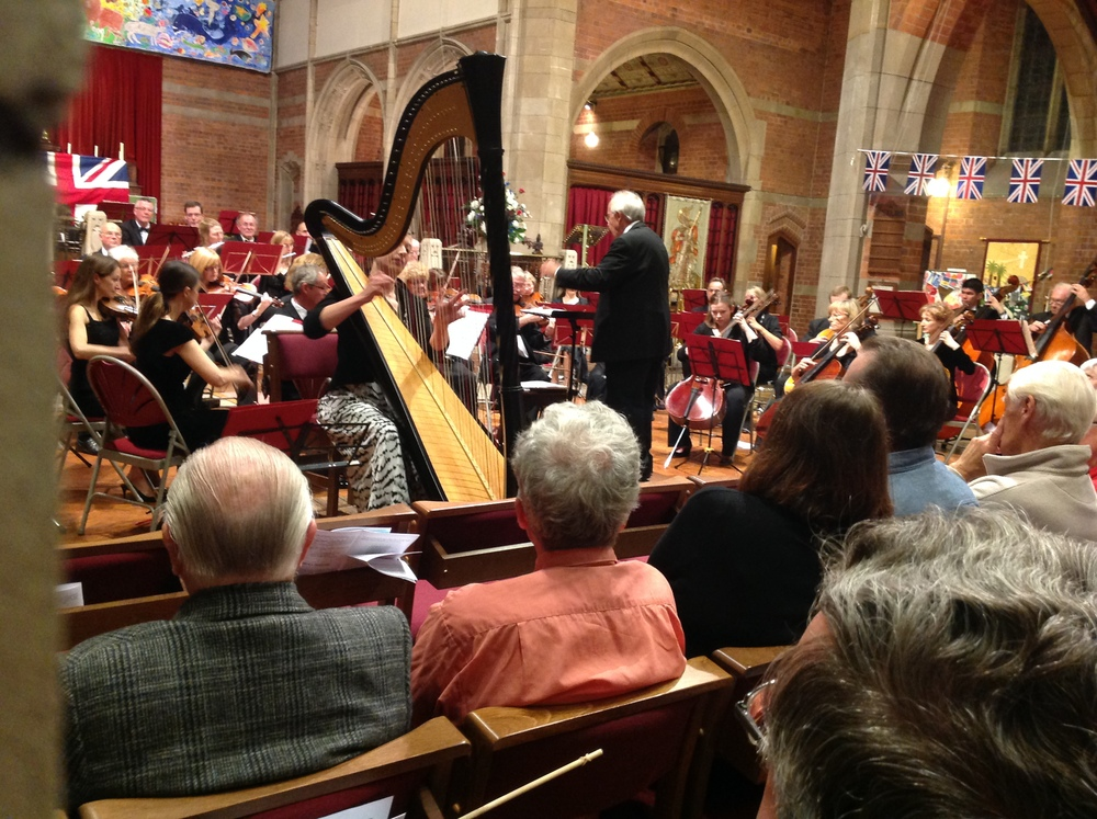 Performing the Handel Concerto at the Last Night of the Proms, St. Georges Worcester, 2014