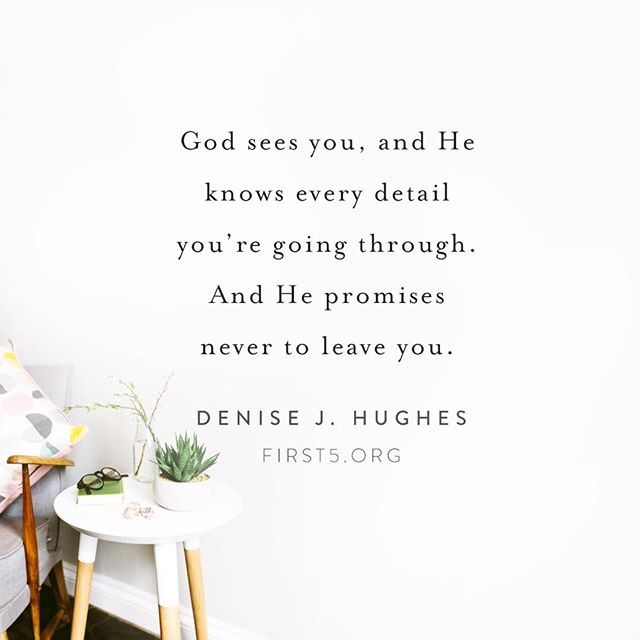 I have found this to be true. Through the worst of times, saddest of days, I've felt God's presence. How about you? @denisejhughes @first5app @proverbs31ministries #god #godfirst #godmorning #hesinthewaiting #always #alwaysthere #trustworthy #blessedassurance #goodgod