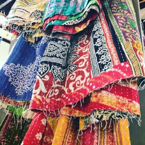 Black Sheep Everything - Wrap up by the fire this winter with these Indian Kantha quilts handmade from vintage sarees. Limited quantities still available.