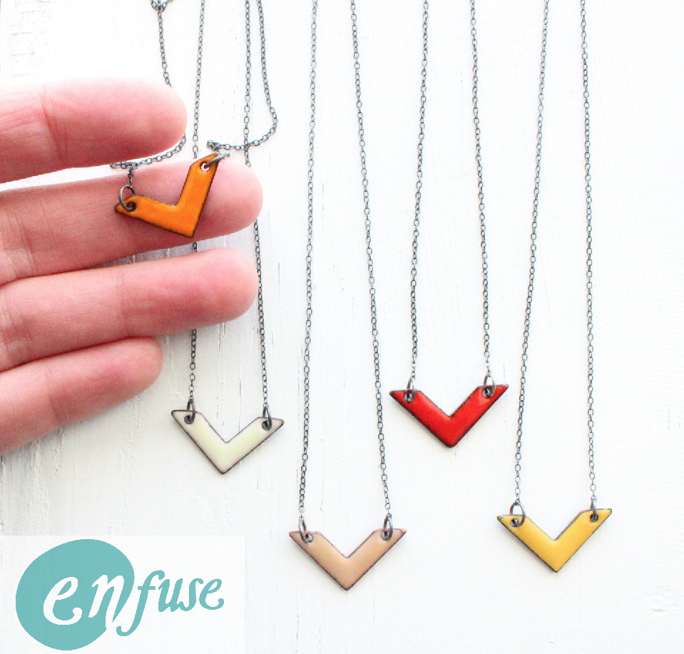 Sweet little Chevron Necklace ready for you!