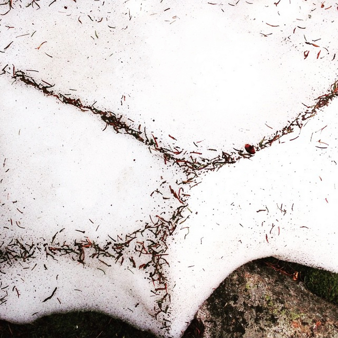 a minimalist pattern in the mountain snow melt.