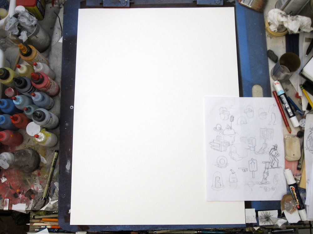 Another week, another blank sheet. It's a shame that the earliest stages are so boring but you have to start somewhere.
