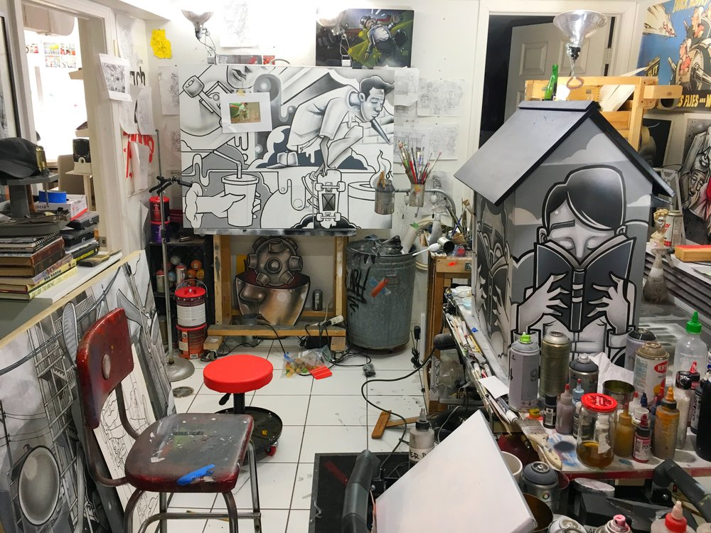 Juggling a few things, studio is a wreck, fighting off germs, behind on emails but I managed to get in a pretty full day. I need to set aside some cleanup time but not for a few days yet.
