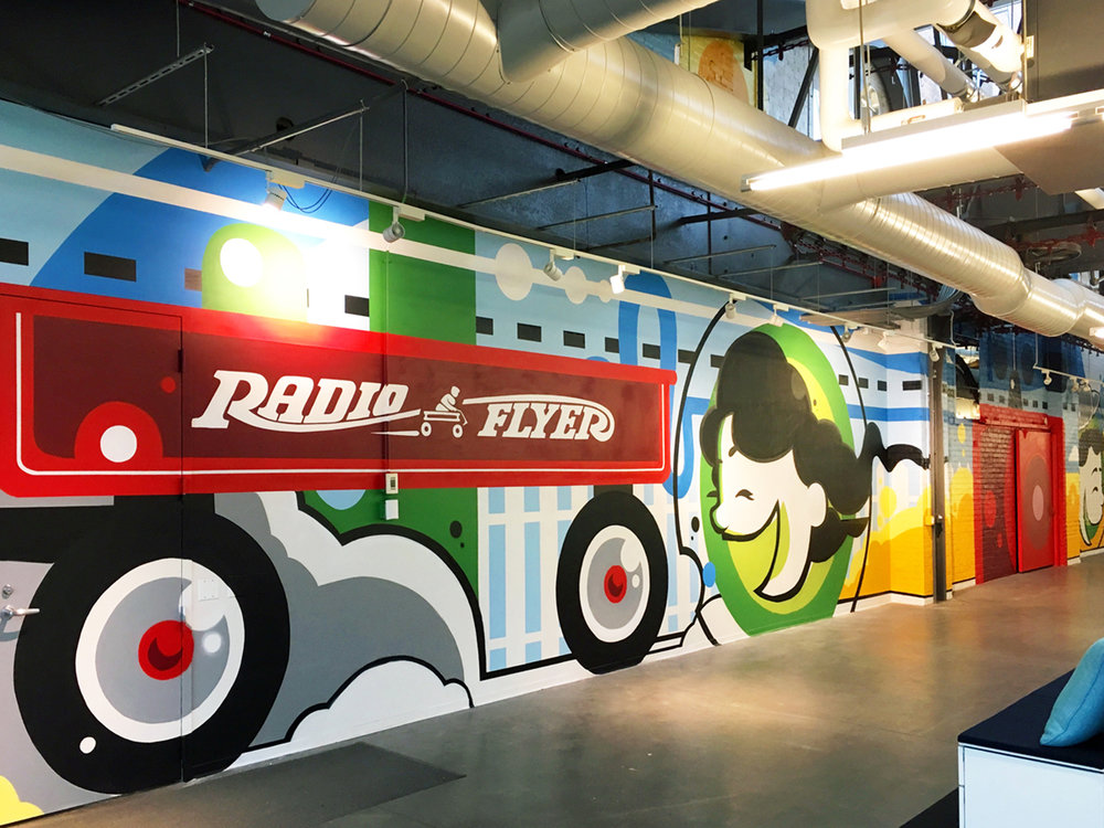Radio Flyer Mural (north view)
