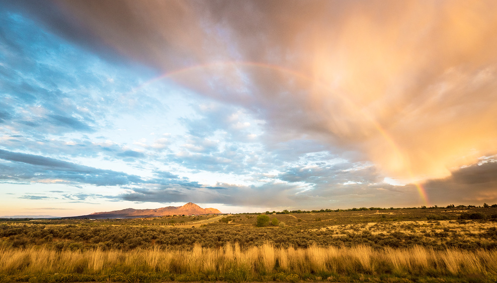 Early morning storms break across the sky during monsoon season in southwest Colorado.