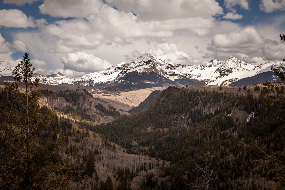 May 2015. Still plenty of snow on the 13,000-foot peaks of the La Platas, Southwest Colorado.