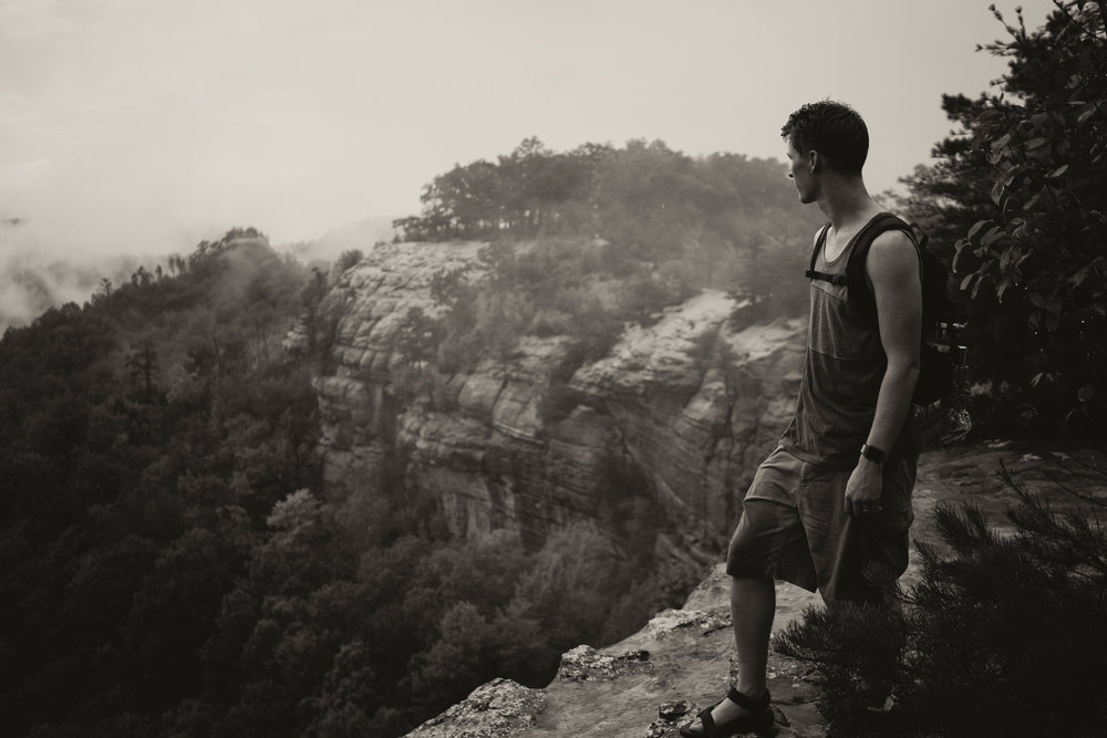 Outdoor portraits and landscape images for the  Merrell One Trail Campaign  captured on Kentucky's Auxier Ridge and Double Arch trails.