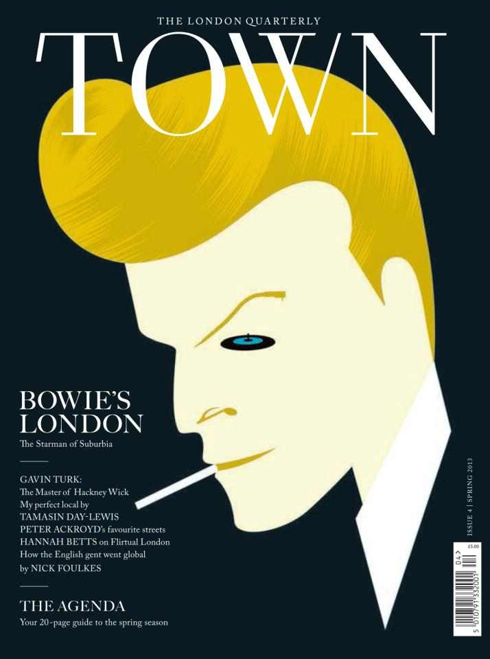 TOWN Magazine | Illustrated David Bowie cover by Noma Bar » NOMA BAR