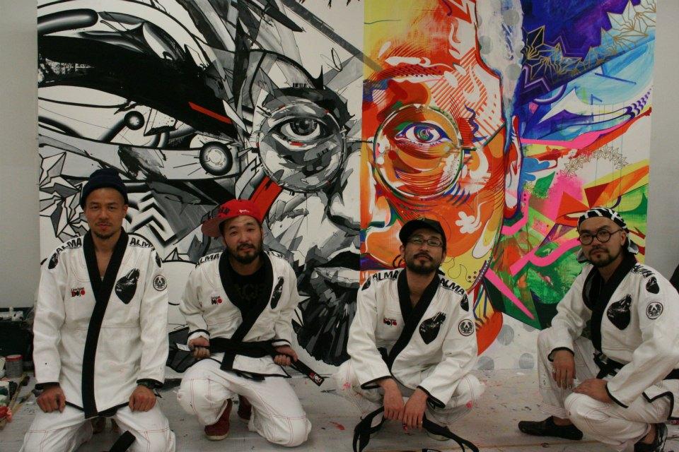 DRAGON76 x Jun Inoue x DOPPEL (BAKIBAKI+MON) @ GEISAI Live Painting DOJO