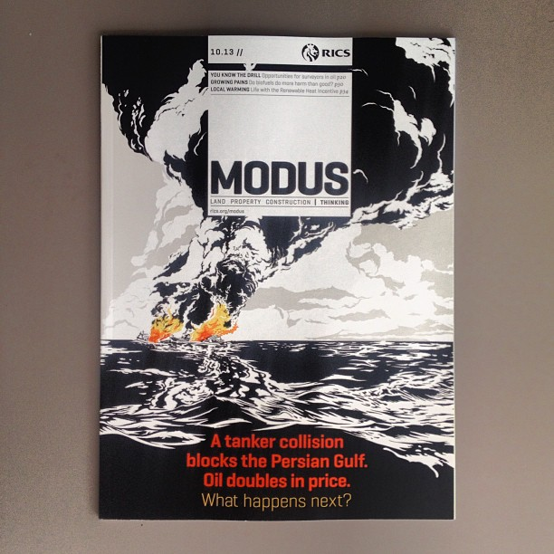 Striking cover by Jörn Kaspuhl for @modusmag