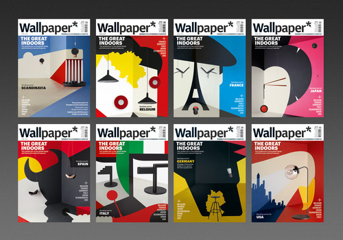Noma Bar - Wallpaper* - 8 x Collectable covers Noma Bar has teamed up with Wallpaper* Magazine this month to offer a collectable series of 8 x international themed covers, each only available in it's relevant country. Covering Scandinavia, Italy, Spain, Japan, Belgium, Germany, France and the USA, the intricate scenes are made up of painstakingly created set designs combining nation specific interior design and Noma's use of negative space imagery. The series was created as part of Wallpaper* Magazine's Global Design 2012 showcase, which you can see on their website here. - www.dutchuncle.co.uk/Noma-Bar www.wallpaper.com http://www.wallpaper.com/art/wallpapers-limited-edition-noma-bar-posters/5671#59979 http://www.wallpaper.com/design/global-design-2012#belgium;250378