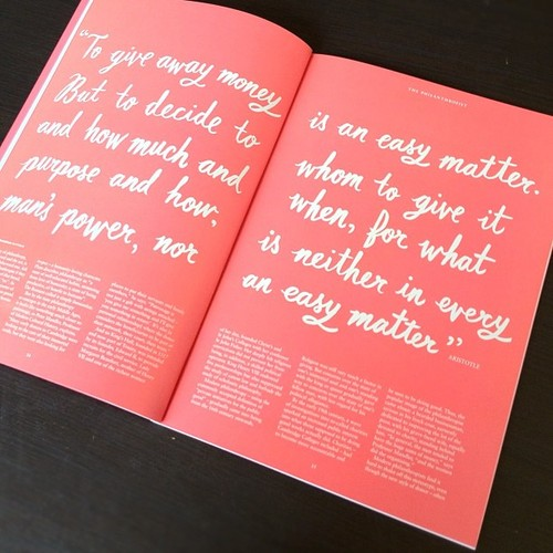 Quote by Aristotle. Illustrated type by Joel Holland