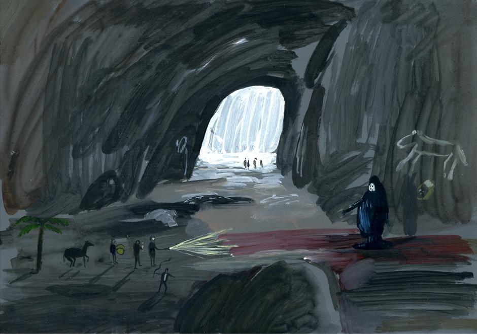 Lascaux, 2011, acrylic on perspex, 20 x 28 cm