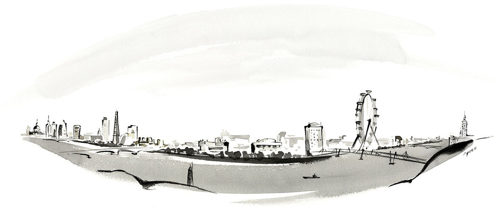 Adelphi London illustration by Yoco Nagamiya