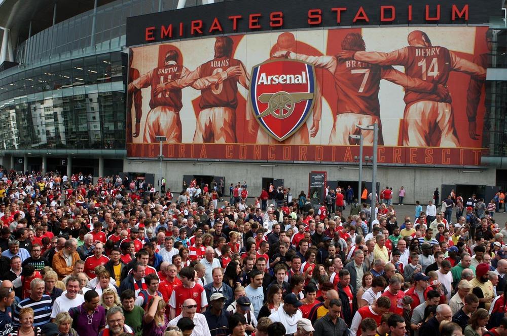 Tavis Coburn artwork for the Emirates Stadium wrap / Arsenal Legends