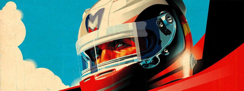 Artwork by Tavis Coburn for Marrusia Racing Formula 1
