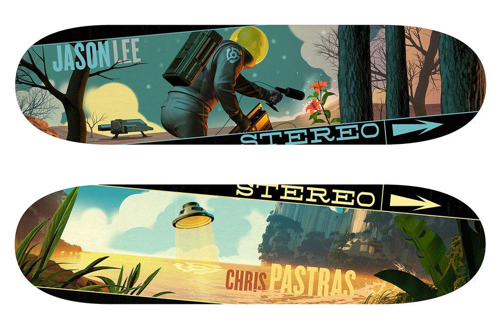 Custom Decks for Stereo Skateboards instagram.com/stereoskateboards