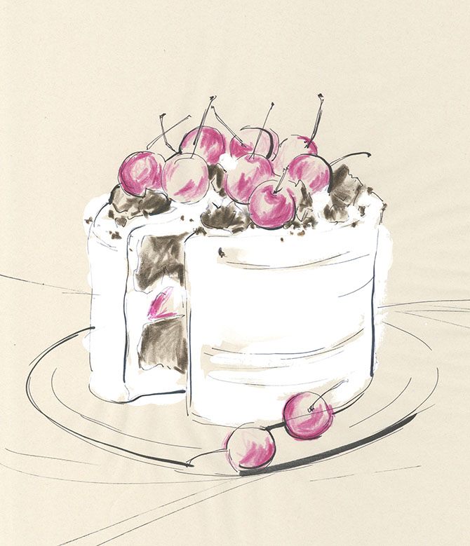 yoco nagamiya - favourite things - Cherry cake