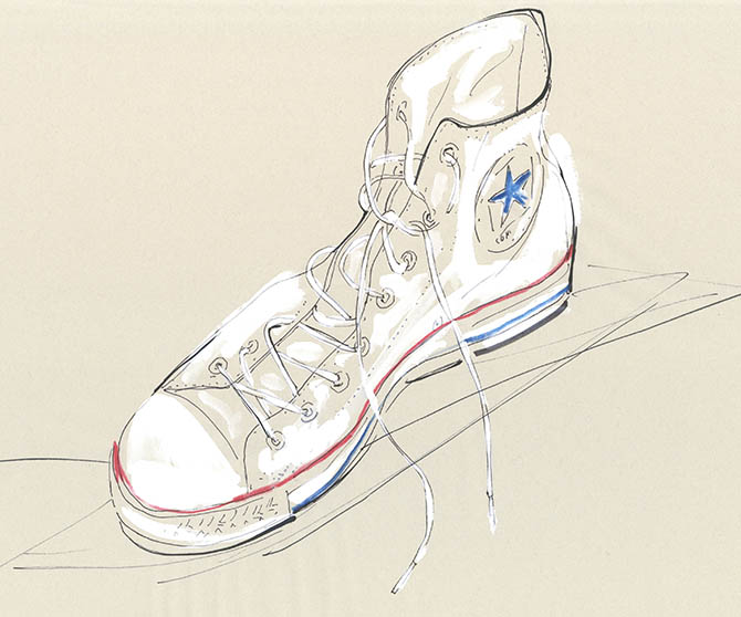 Yoco Nagamiya - favourite things - Converse sneakers