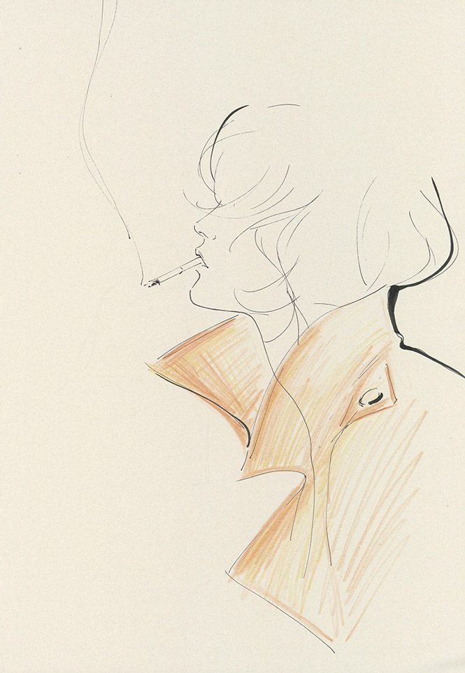 Yoco Nagamiya - illustrated favourite things 'Trench Coat'