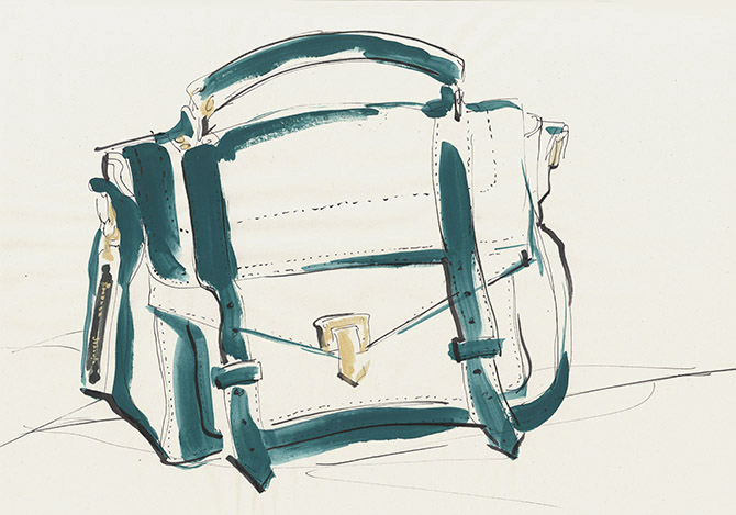 Favourite things illustrated by Yoco Nagamiya - 'PROENZA SCHOULER  The PS1'