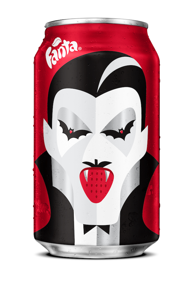 Noma Bar design for Fanta Halloween • Strawberry Drac