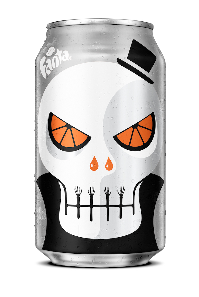 Noma Bar design for Fanta Halloween • Zero Skull