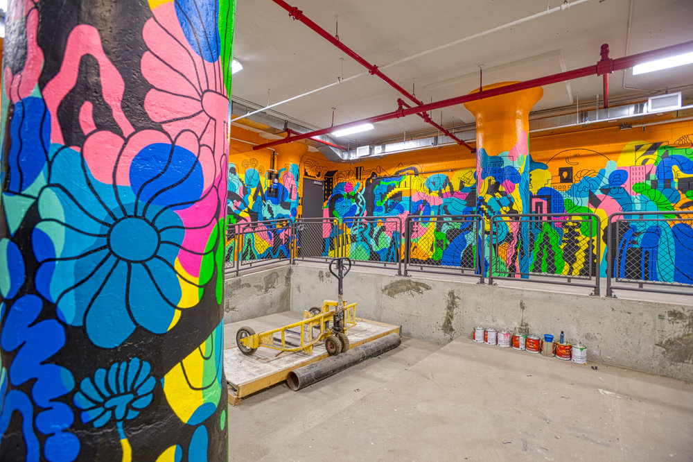 SUNSET YARDS, BROOKLYN - Mural by Mike Perry Studio